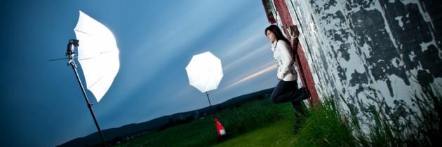Petite installation pour notre formation de studio extérieur, offert chez Studio Formation Photo Québec
